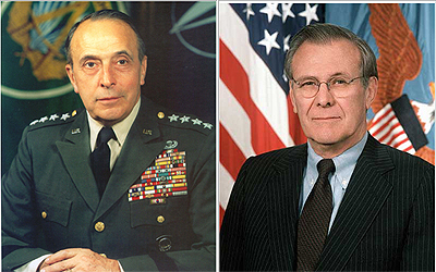 A couple of 'f**king crazies', past and present.  Lemnitzer and Rumsfeld.