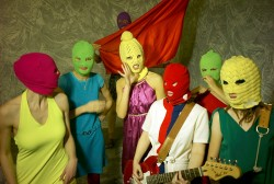 'Punk Rock Band' 'Pussy Riot' with token guitar which none of them know how to play