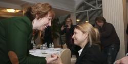 Catherine Ashton and Yulia Tymoshenko