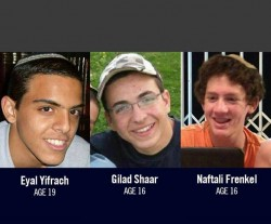The 3 kidnapped and murdered Israeli teenagers