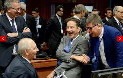 'Fantastic! We just screwed over 10 million Greeks!' - Wolfgang Schäuble (center) and his coterie of neo-nazi financiers